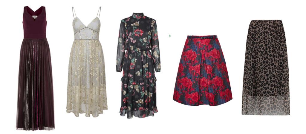 Schlanker Aussehen mit ausgestellten Kleidern