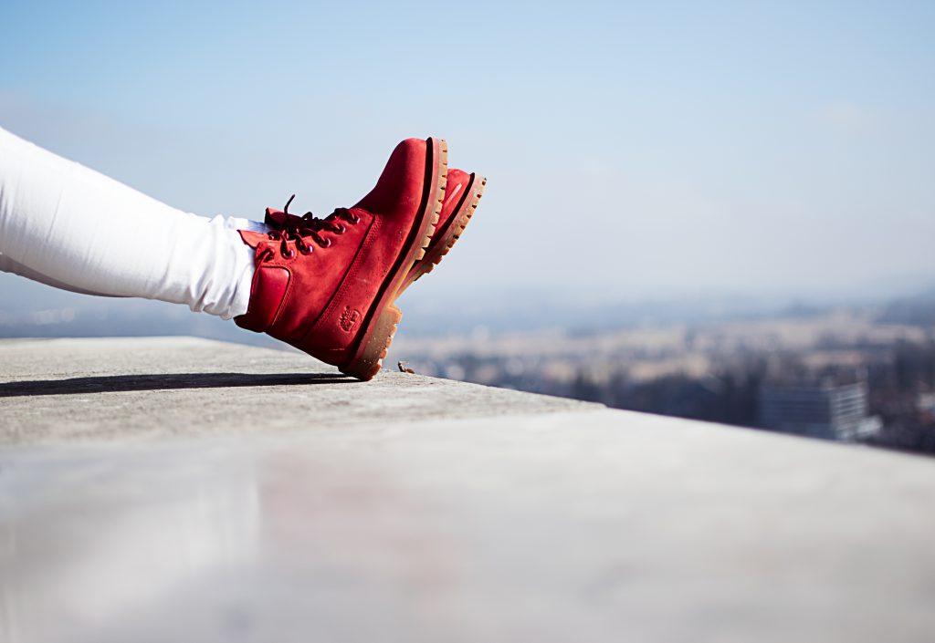 Weiße Hose im Winter kombinieren - Schuhe