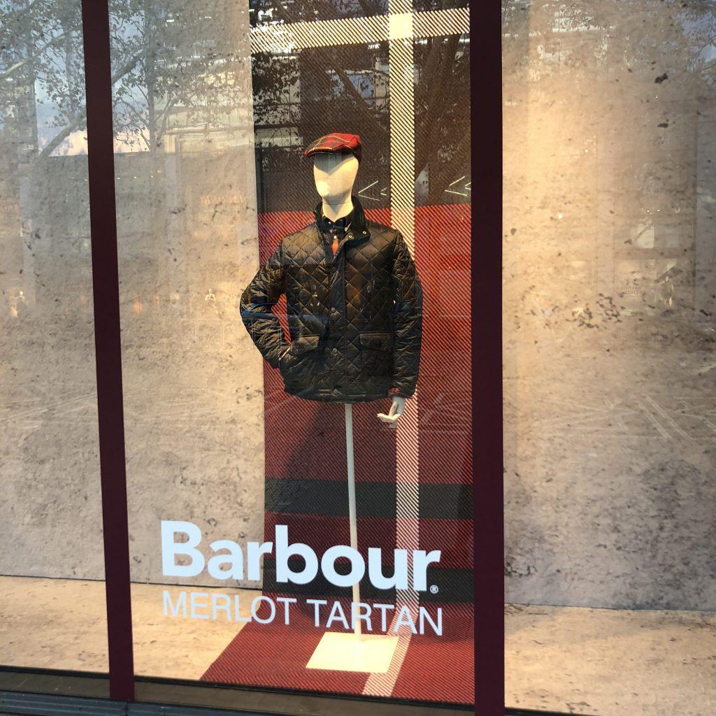 Barbour Schaufenster