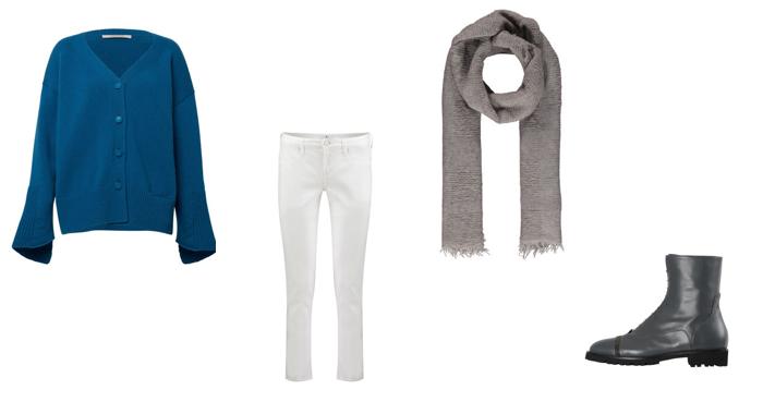 Weiße Jeans im Winter kombinieren