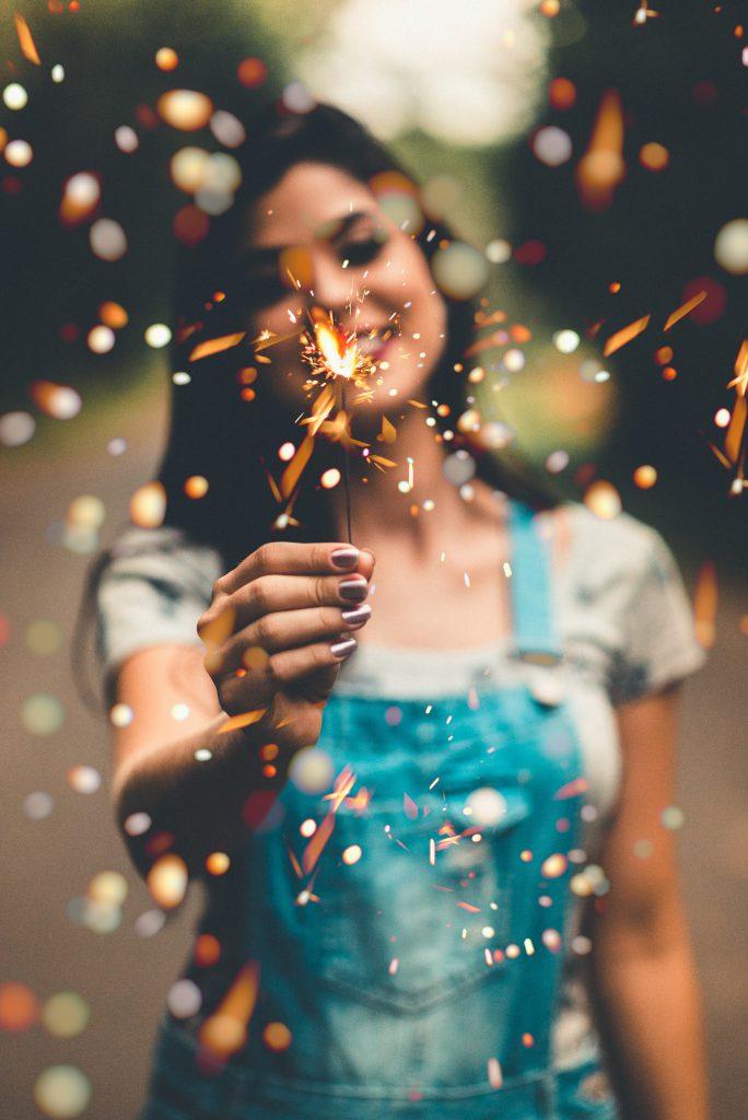 Neujahrsvorsätze Girl