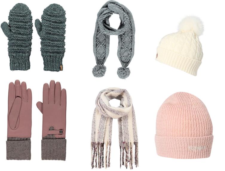 Après-Ski-Outfit: Schals, Handschuhe und Mützen