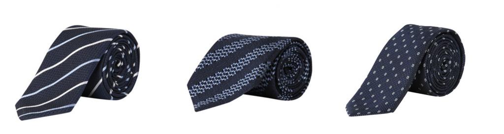 Krawatten zu blauem Anzug