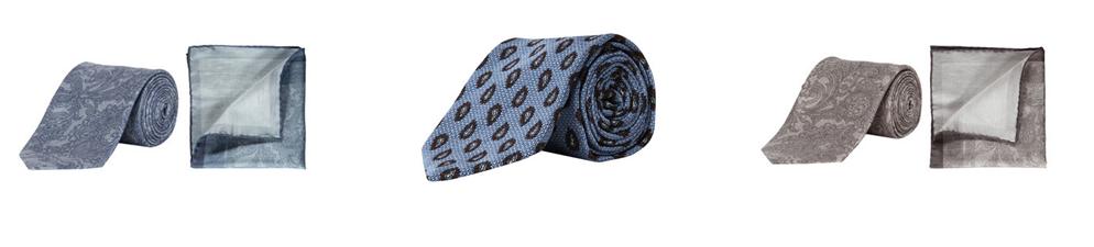 Krawatten zu blauem Anzug - Krawatten von Brioni und von Ermenegildo Zegna