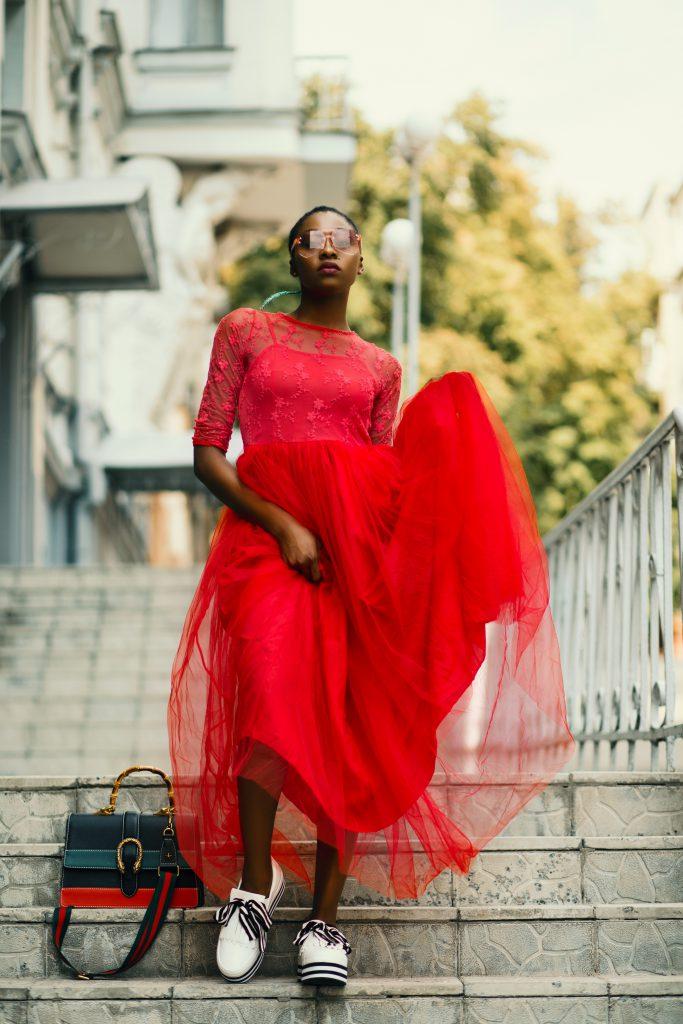 Frühlingsfarben Rot_Kleid