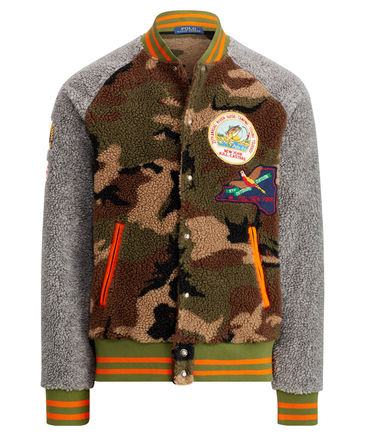 Retro Collegelook Muster Camouflage