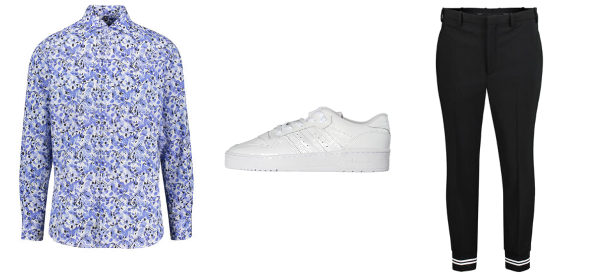 Blumenmuster - Outfit 1