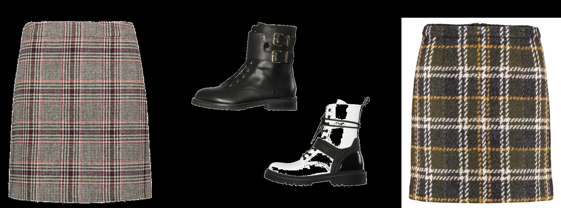Outfitkombination Minirock&Boots