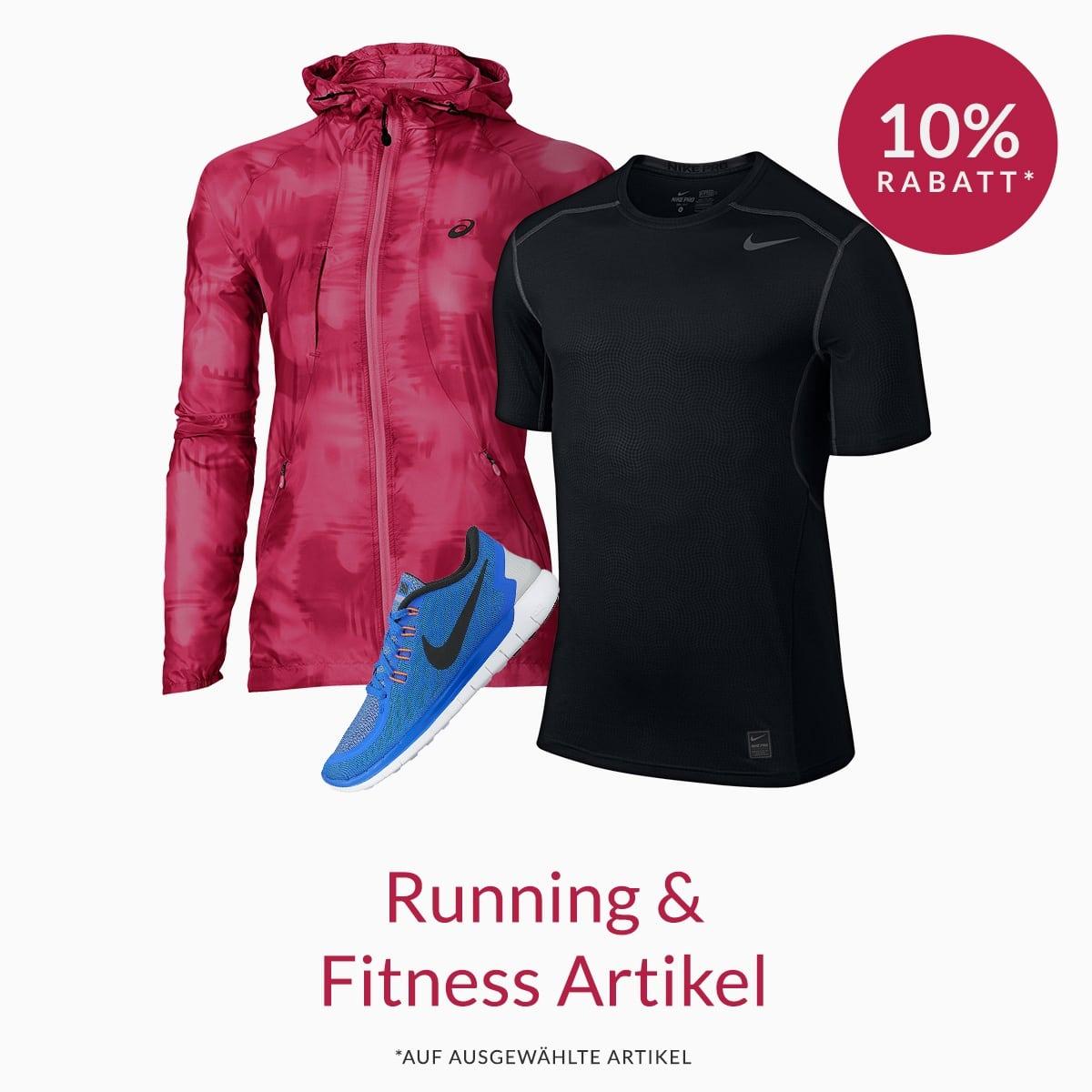 10% Rabatt auf ausgewählte Running- und Fitnessartikel