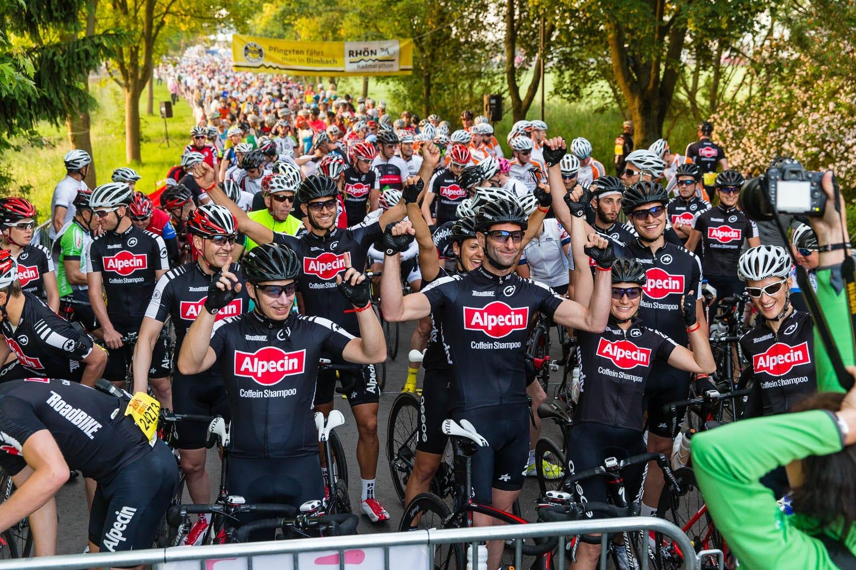 Das Team Alpecin beim Rhönmarathon