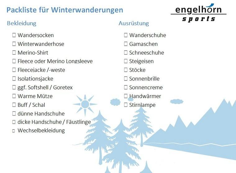 Die perfekte Packliste für Winterwanderungen zum Download