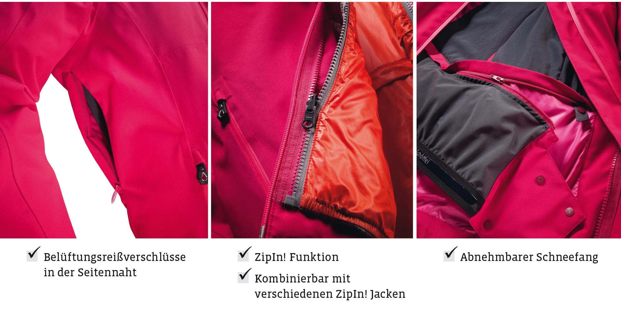 finde deine perfekte SKI-JACKE mit schöffel zip in!