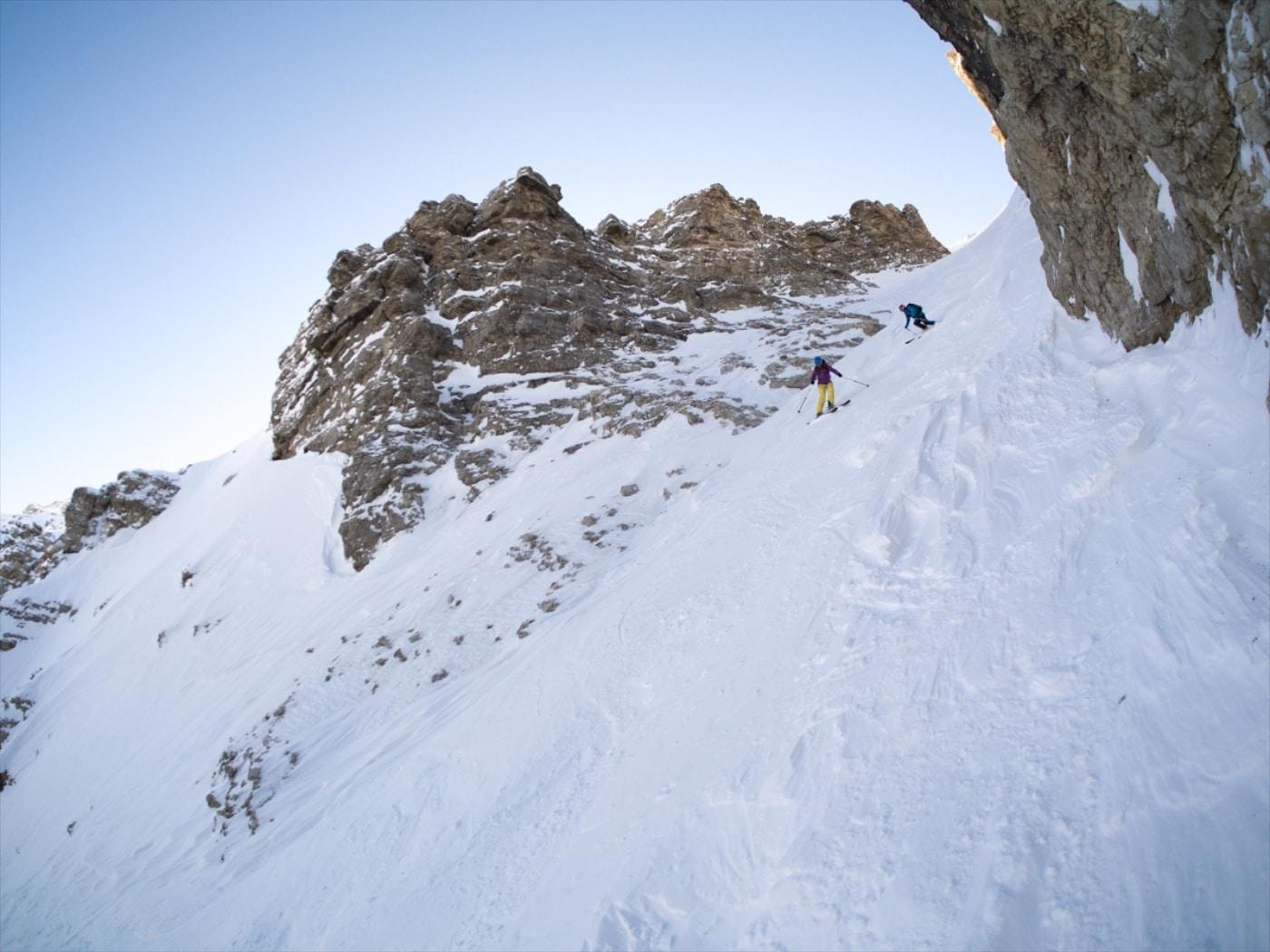 Freeriden in den Dolomiten - perfekte Verhältnisse und malerisches Panorama