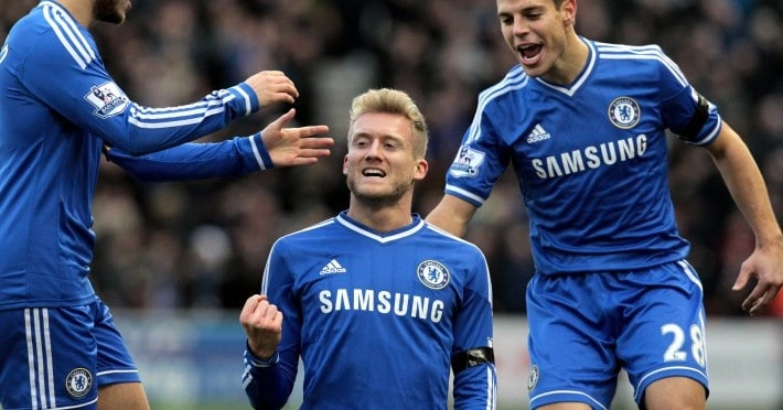 Harte Arbeit im Training beim FC Chelsea