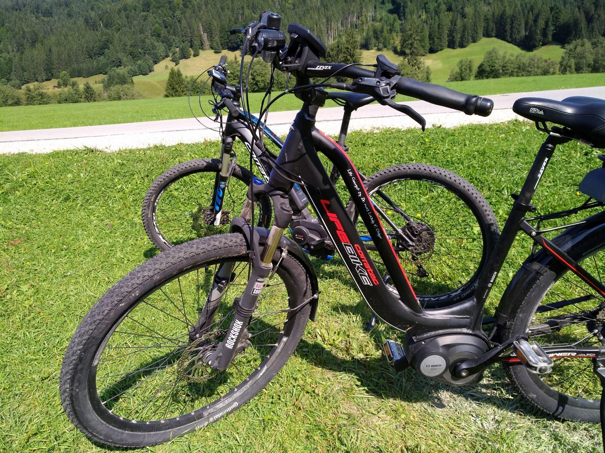 Meine erste Tour mit dem E-Bike: Zur Wetterstein-Alm