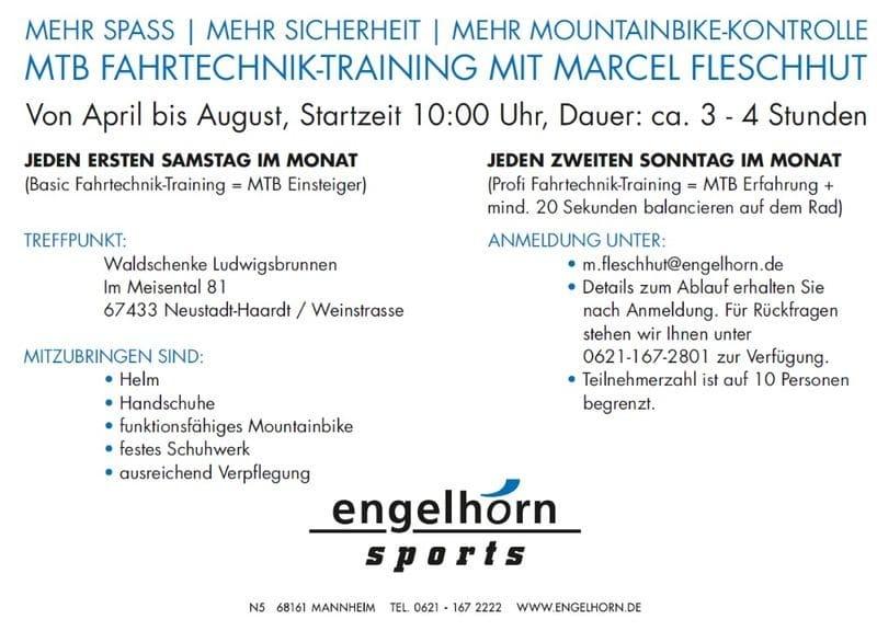 Mountainbike Fahrtechnik-Training mit Marcel Fleschhut