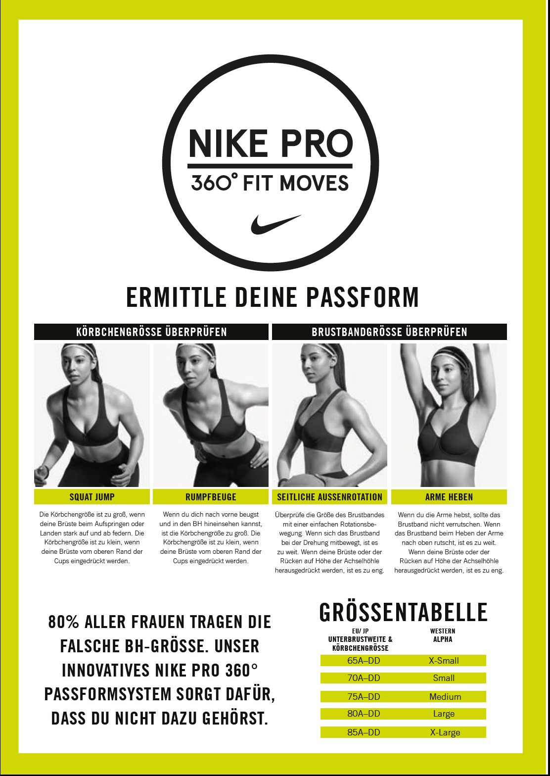 Perfekte Passform mit Nike Sportsbras