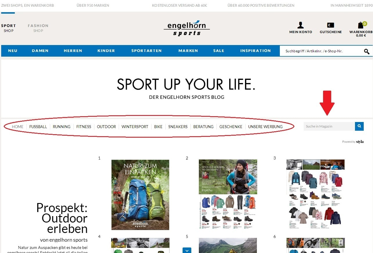 Sport Up Your Life im neuen Look