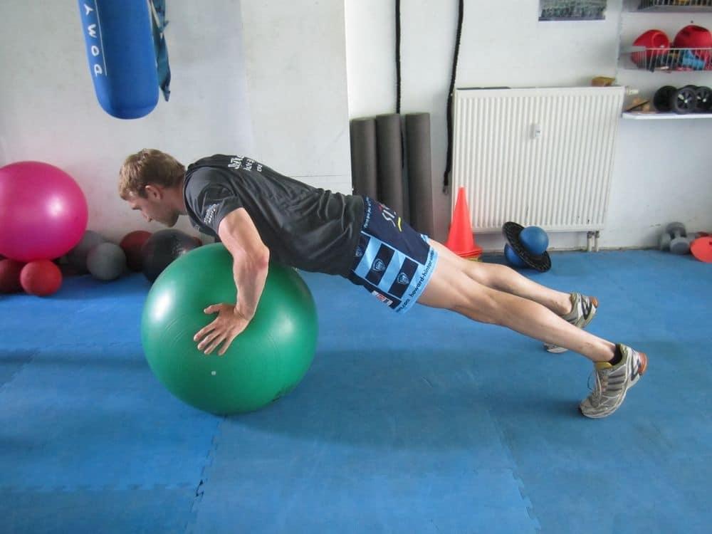 Training mit dem Gymnastikball