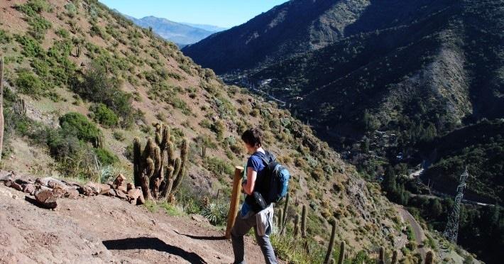 Trekking am Rande von Santiago de Chile