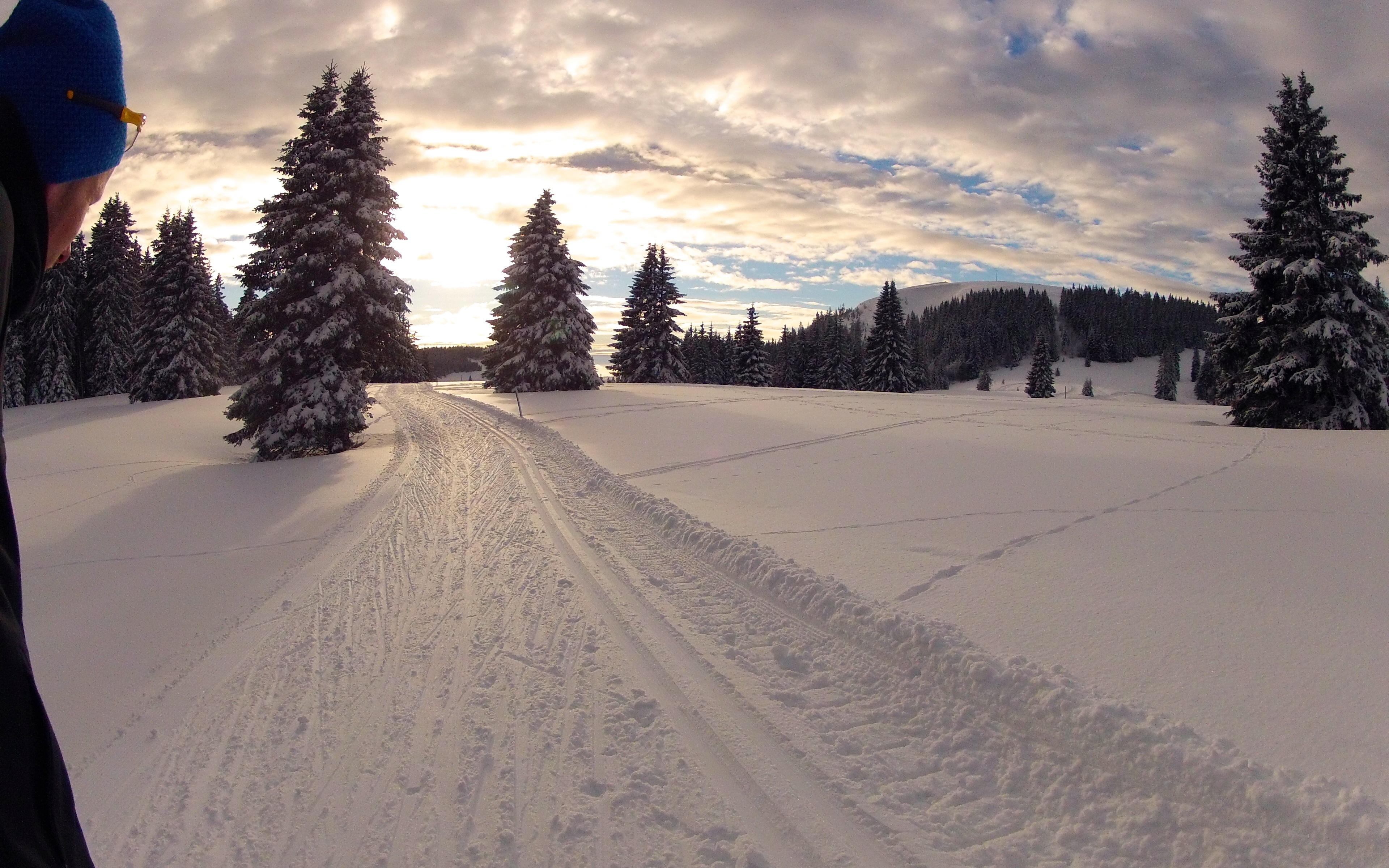 Wintertraining im Schnee: Das Mountainbike bekommt eine kurze Pause!