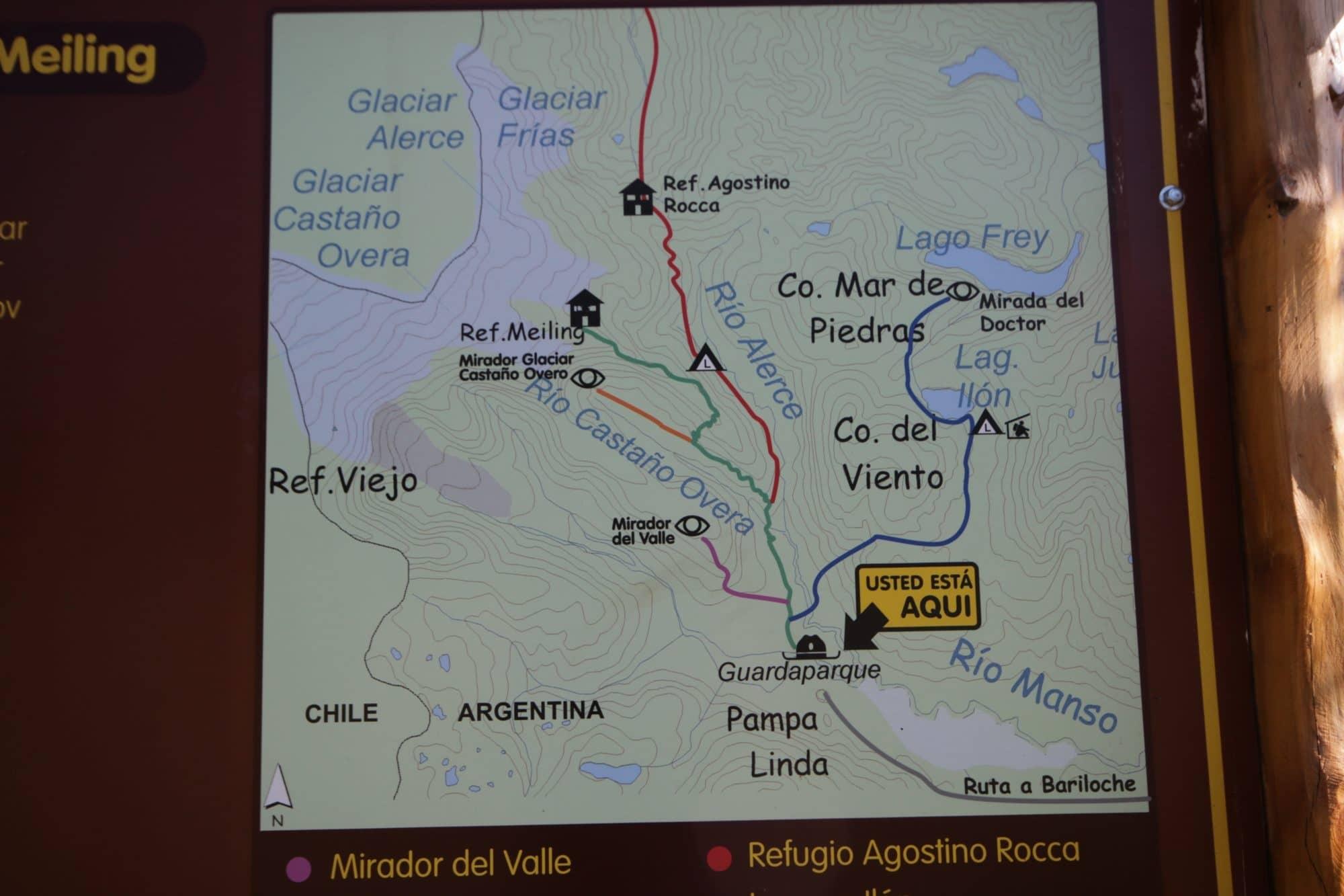 Zum Rifugio Otto Meiling auf dem Tronador in Argentinien