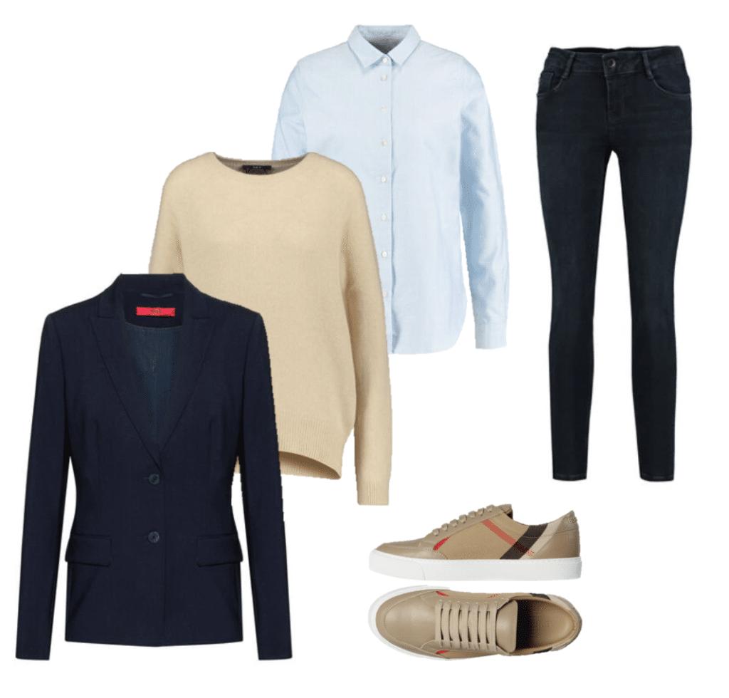 Lagenlook Pullover und Bluse
