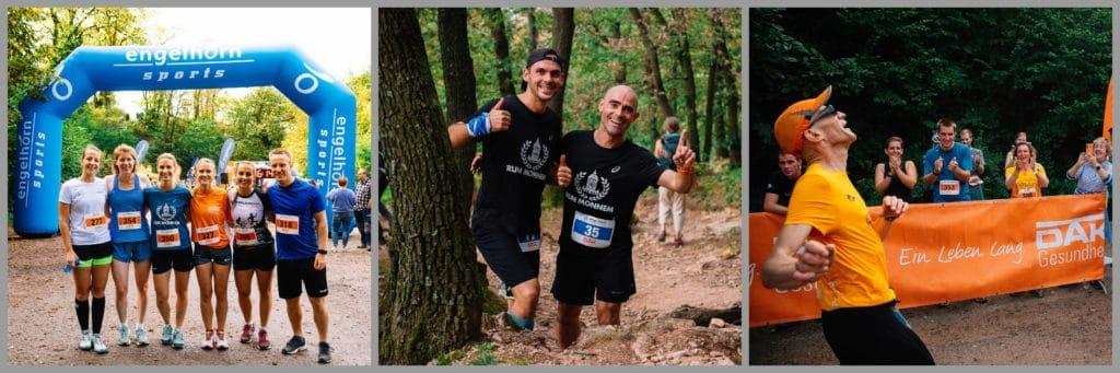 Collage von Läufern des Trailcups 2020