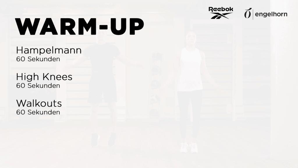 Warm Up Übungen für das Couple Workout