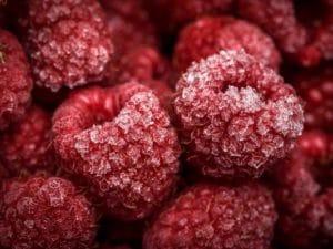 Himbeeren, gefrorene Himbeeren, vegane Rezepte, Nachtisch, rote Früchte, rot, Obst