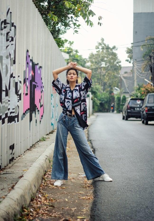 richtige Jeans große Oberschenkel