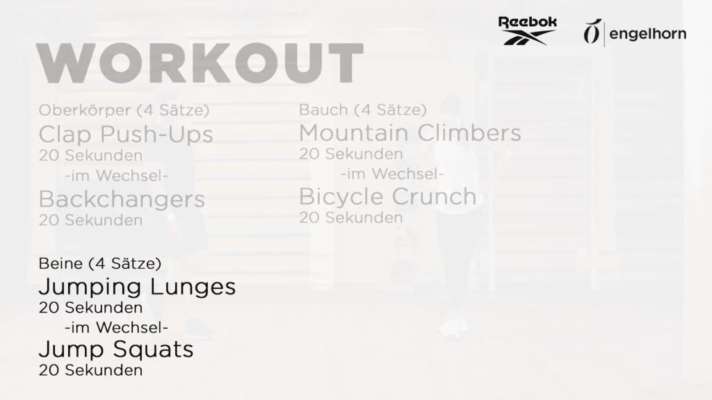 HIIT Workout - Tabata 2 für die Beine