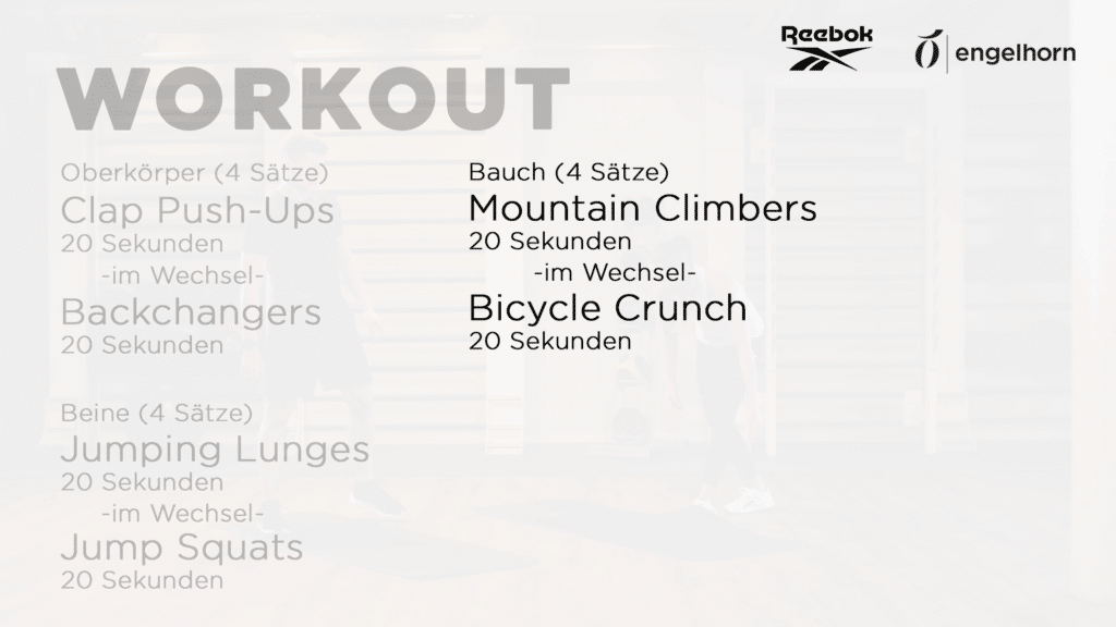 HIIT Workout - Tabata 3 für den Bauch