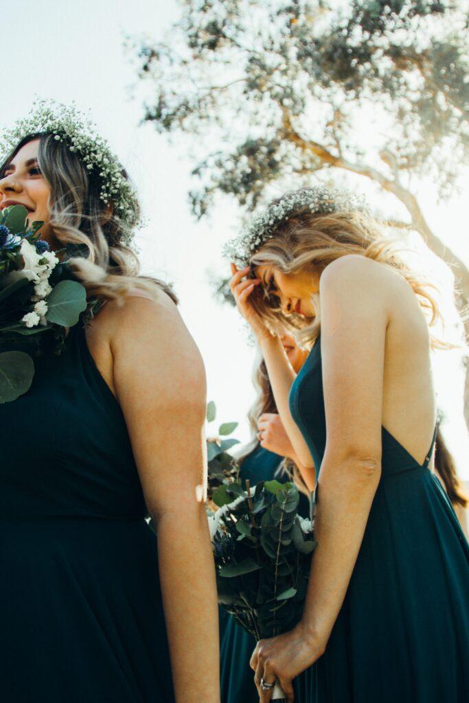 Hochzeitsgast Outfit Blumenkranz