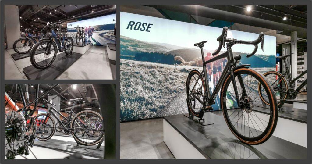 So sieht sie aus, unsere Rose Bikes Fläche im UG unseres Sporthauses