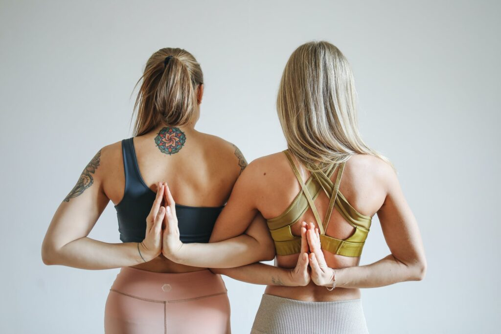 Yoga, Frauen, Rücken, namaste, Pilates