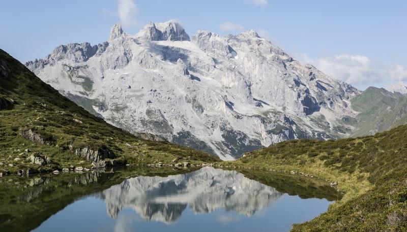 Alpenüberquerung, Schlussbild, See, Wandern, Alpen