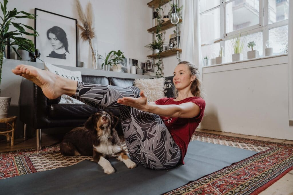 Naukasana, Yoga; Entspannung; Kristin; Home-Session