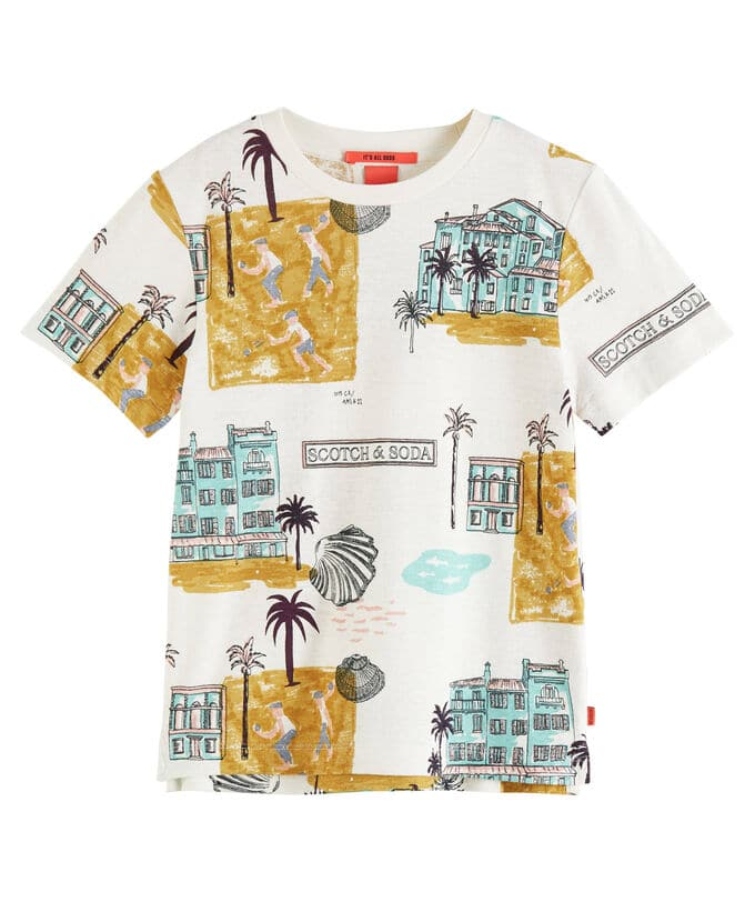 T-Shirt Scotch & Soda gelb