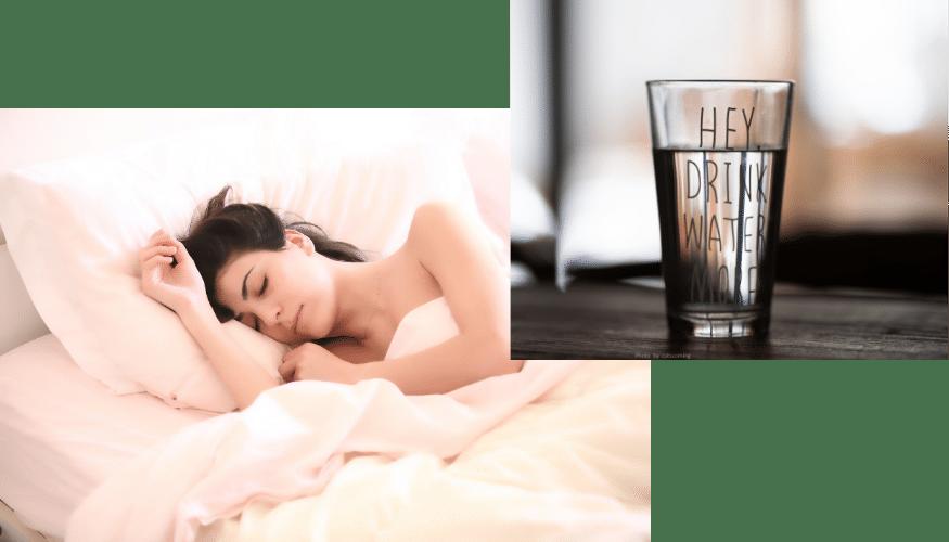 Beauty-Drinks, Water, Wasser, trinken, Schönheitsschlaf, schlafen