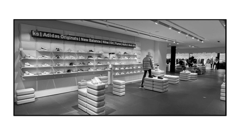 Schuhe Fläche